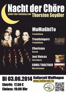 """Plakat """"Nacht der Chöre"""" für den 03.06.2014"""